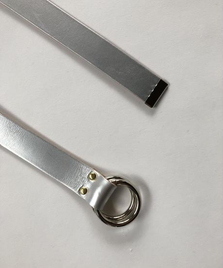 【新色】Ring Leather Belt  Silver
