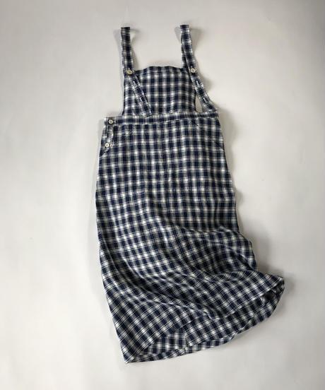 Linen Check Apron Onepiece