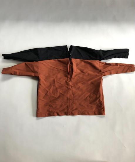 ポリエステル縮絨 Zip PO Shirt / Brown
