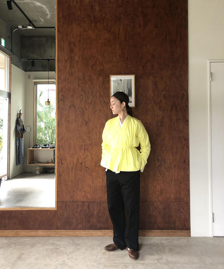 100/2 Poplin Kimono Shirt  / Yellow