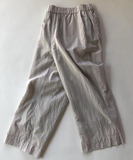 Cotton Stripe Relax Pants