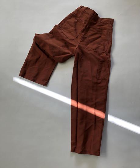 ポリエステル縮絨 Painter Pants / Brown