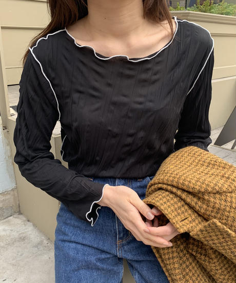 wrinkle mellow blouse