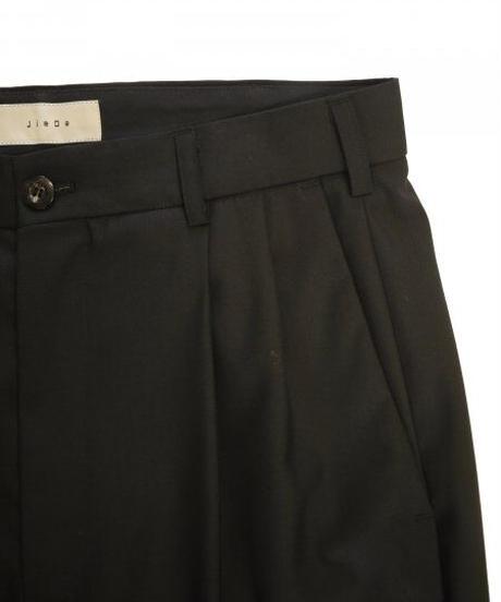 JieDa 2TUCK TAPERED PANTS (BLK) Jie-21S-PT04-C