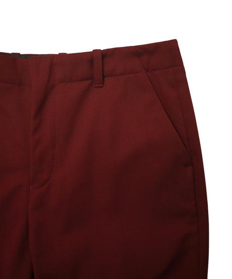 JieDa GABARDINE FLARE SLACKS (BUR) Jie-20W-PT03-B