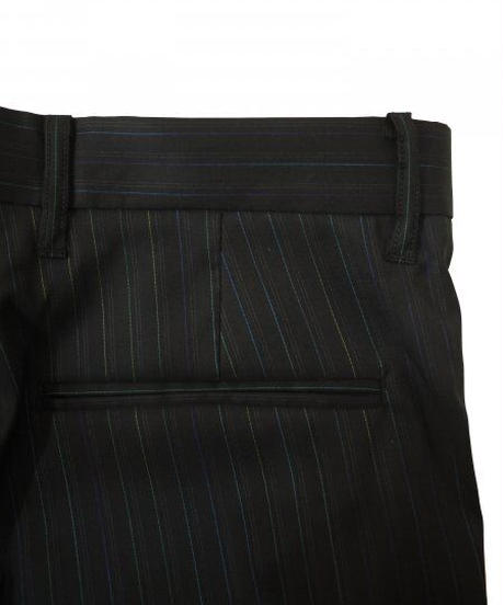 JieDa STRIPE SLIT SLIM FLARE SLACKS (BLK) Jie-21S-PT03-A