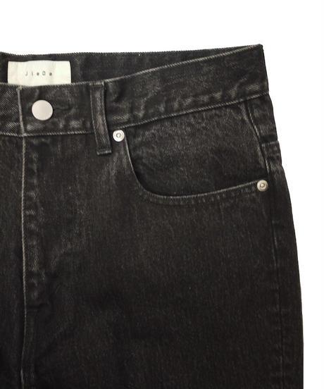 JieDa USED FLARE DENIM PANTS (BLK) Jie-STD-PT05-USED