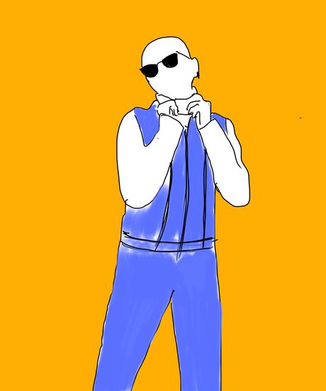 DOKU(独) Illustration T shit  (Yellow)