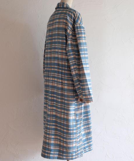Stripe checkコットンツイルコート/K8-1700201