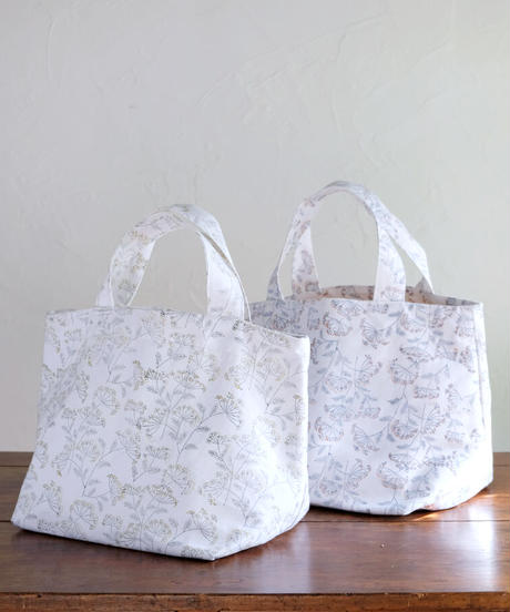 lace flowerキャンバストートバッグ