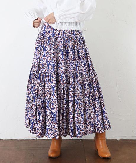 carpet モダールサテンティアードスカート