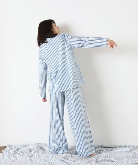 カディパジャマ トップロング/stripe
