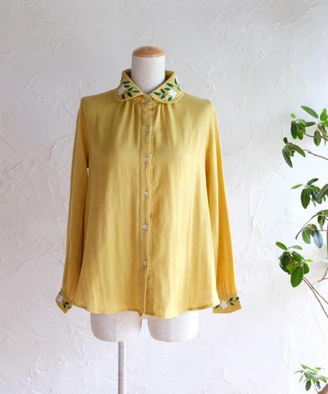 手刺繍ダブルガーゼシャツ(collar)