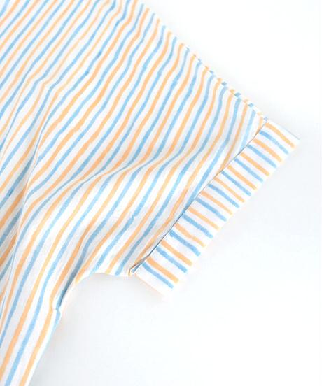 カディパジャマ トップショート/stripe