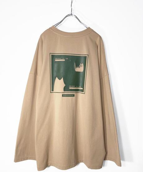 ゲームプリントTシャツ ベージュ