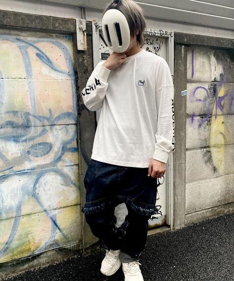 ロゴスリーブオーバーサイズTシャツ ホワイト