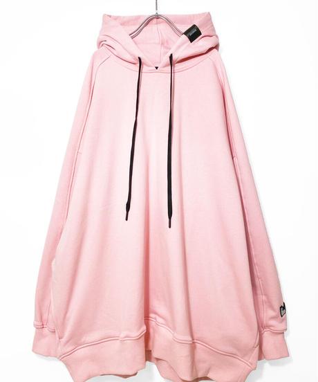 メガサイズプルオーバーパーカー ピンク