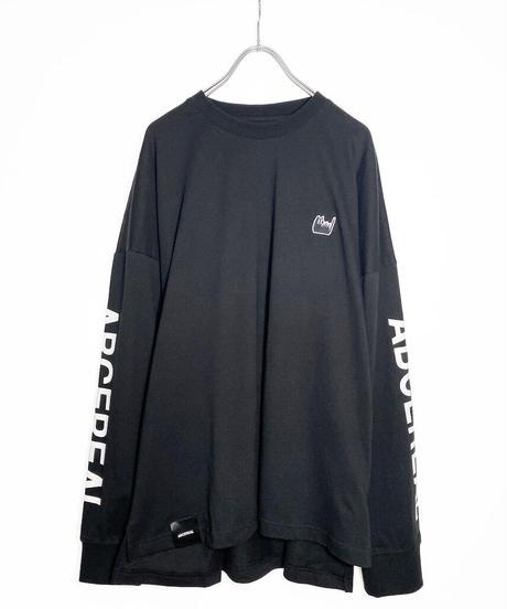 ロゴスリーブオーバーサイズTシャツ ブラック