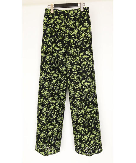 P-02/02 Flower Lace Wide Pants