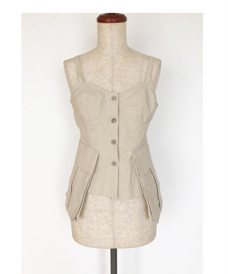 T-01/01 Cotton Linen Bustier