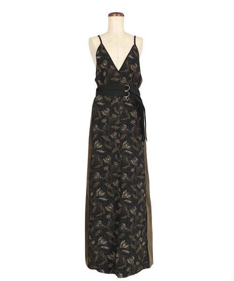D-03 Flower Jacquard Camisole Dress