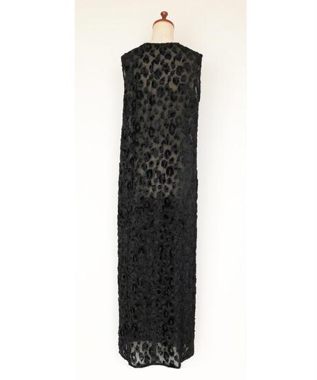 D-02/02 Cut Jacquard Sleeveless Dress