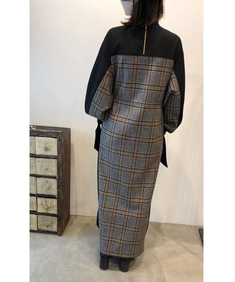 D-01/02 Wool Plaid Long Dress