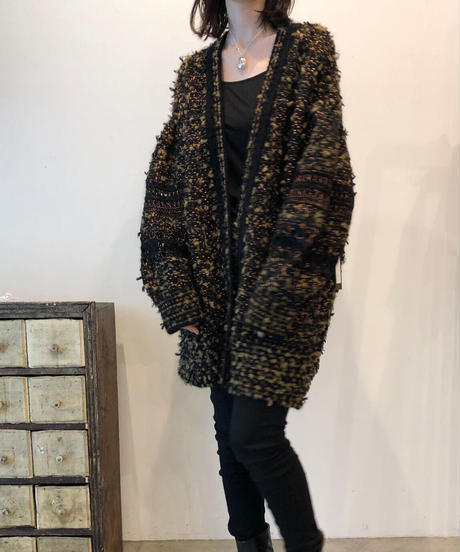 O-01 Mix yarn Knit Cardigan