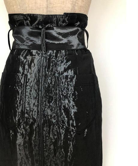 S-01/02 Glossy Wrap Skirt