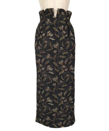 S-01/02 Flower Jacquard Long Skirt