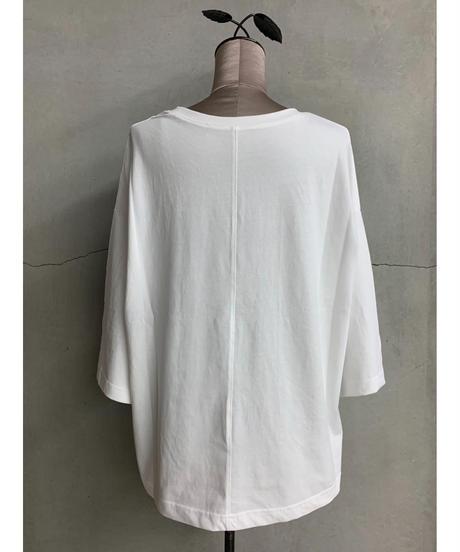 ロゴスリットTシャツ(ホワイト)