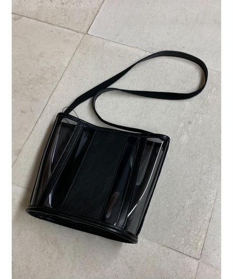 PVC×レザーショルダーバッグ