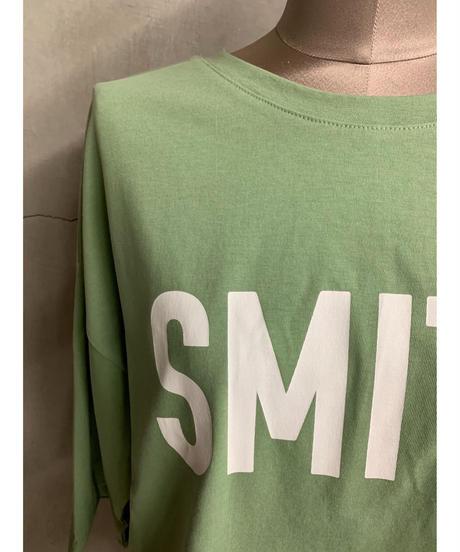 ロゴスリットTシャツ(グリーン)