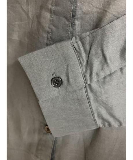 バックロゴミリタリーシャツ(チャコール)
