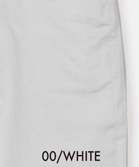 スラウチテーパードデニムパンツ(ホワイト)