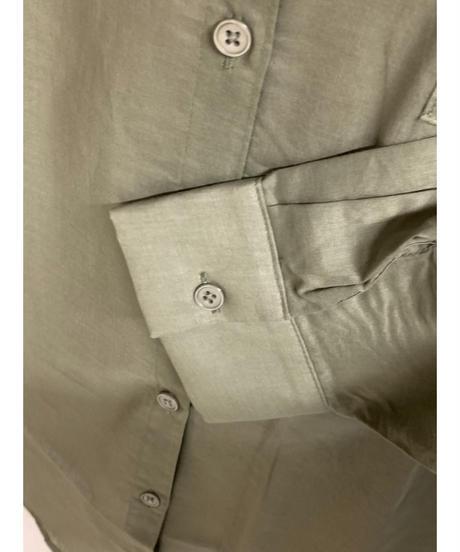 バックロゴミリタリーシャツ(カーキ)