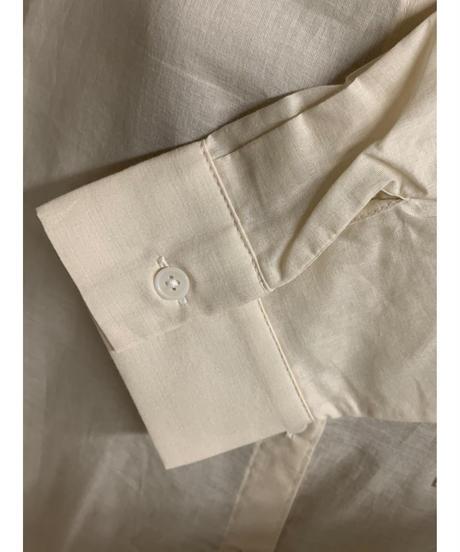 バックロゴミリタリーシャツ(アイボリー)