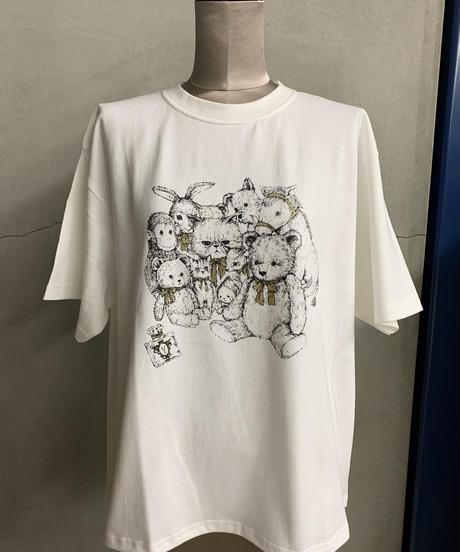 【3L】サークルスーちゃんTシャツ(オフ)