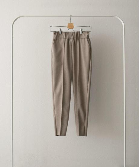 bottoms-02088 WOOL-LIKE CUT-OFF SLIM TAPERED PANTS