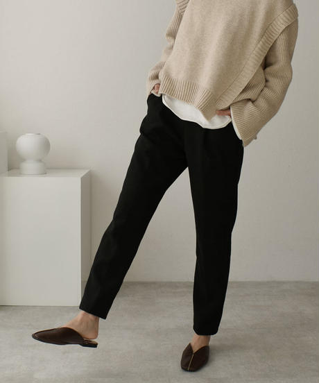 bottoms-02090 WOOL-LIKE RELAXED TAPERED PANTS