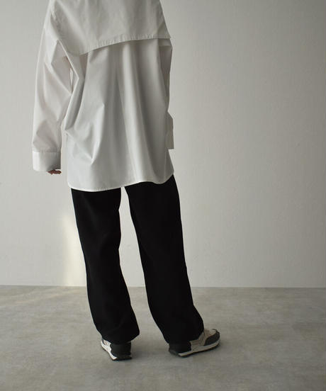 bottoms-02097 TWO-TUCK  SEMI-WIDE STRAIGHT PANTS
