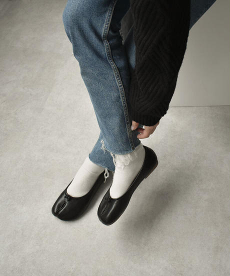 shoes-02121 ECO LEATHER SOCKS BALLET SHOES