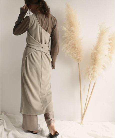 tops-04018 MADE IN JAPAN ONE SHOULDER DRESS