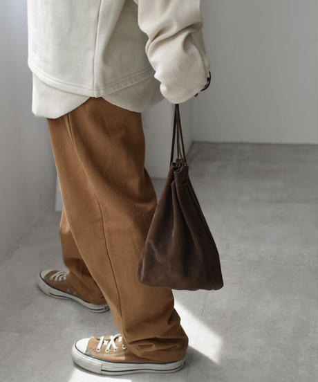 nh-leather-09006 MADE IN JAPAN LEATHER DRAWSTRING BAG
