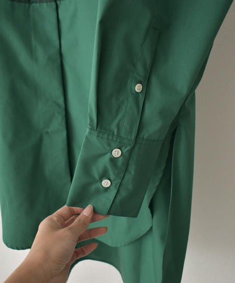 tops-04085 MADE IN JAPAN FRONT BICOLOR DRESS SHIRT