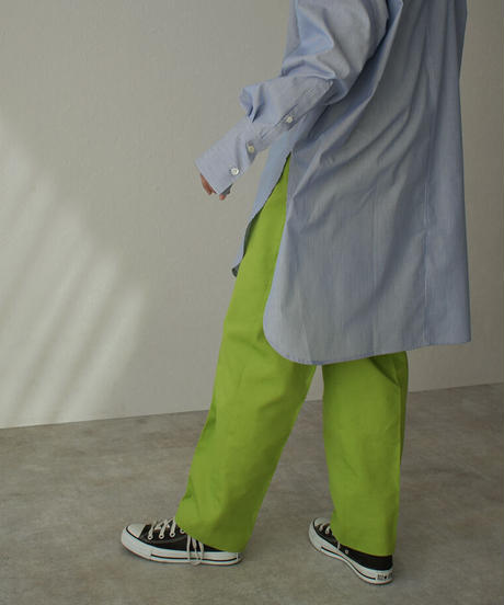 bottoms-04037 MADE IN JAPAN COLOR TUCK TAPERED TROUSER PANTS