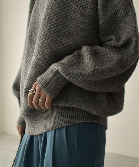 knit-02140 CREW NECK KNIT PULLOVER