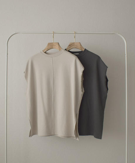 tops-04101 MADE IN JAPAN CUT-OFF SLEEVE SWEAT PULLOVER