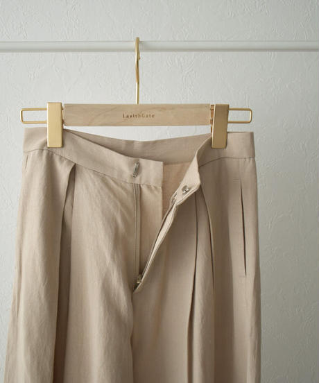 bottoms-02116 LINEN MIXED TUCK WIDE PANTS
