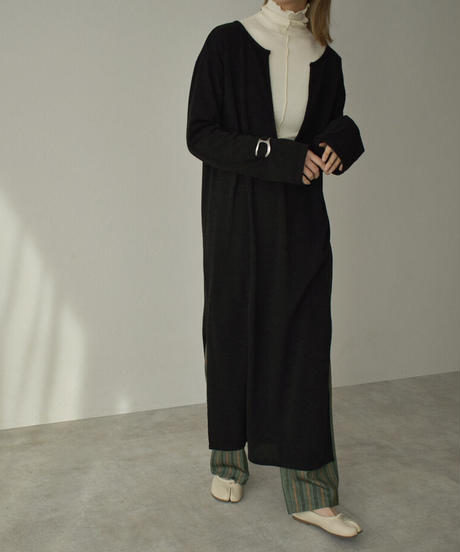 onepiece-04040 MADE IN JAPAN SPAN KNIT DEEP V DRESS